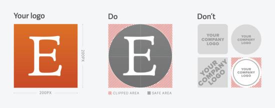 Eksempler på riktig logobruk