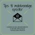 grafikk med teksten tips til mobilvennlige eposter leseren er din hovedprioritet gi en god opplevelse tilpass dine eposter
