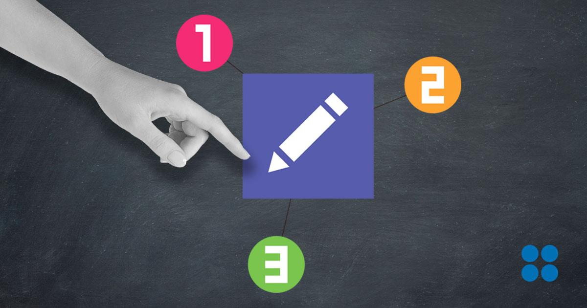 Illustrasjon skrive for web på 1-2-3