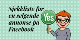 sjekkliste for en selgende facebook-annonse