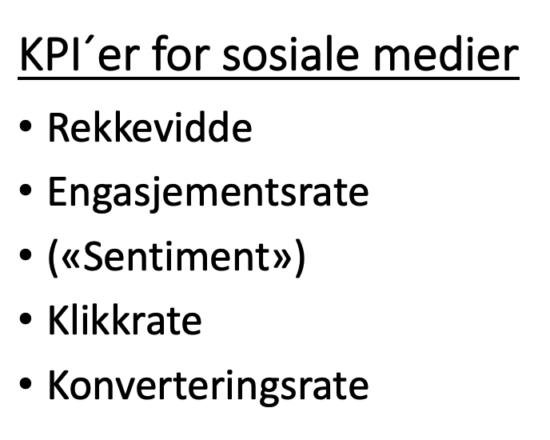 KPI'er for sosiale medier