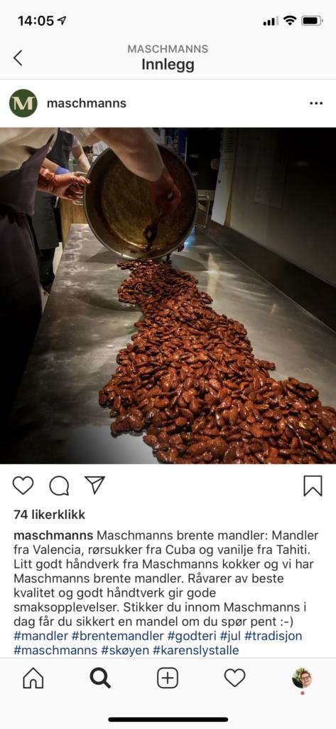 Instagram-innlegg med historien bak produktet